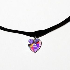 Pink or White Heart Choker